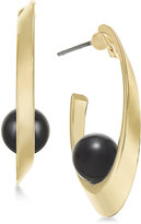 INC International Concepts Gold-Tone Beaded Half-Hoop Earrings, Only at Macy's