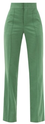 Isabel Marant Sorokia High-rise Crepe Trousers - Green