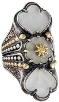 Konstantino Two-Tone Frosted Rock Crystal Ring
