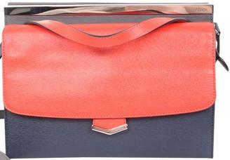 Fendi Orange/Gray Leather Demi Jour Bag