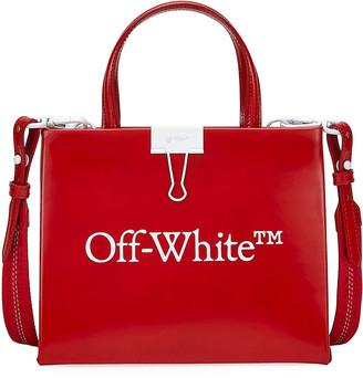 Off-White Mini Trademark Leather Box Bag