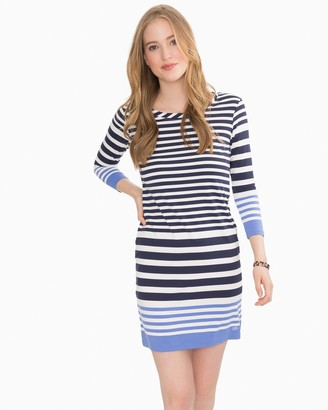 Southern Tide Camille Navy Striped Performance Dress