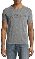John Varvatos Love Sign Language Graphic T-Shirt, Gray