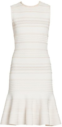 Alexander McQueen Scalloped Knit Sheath Dress