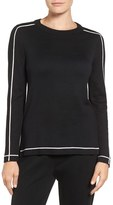 Ming Wang Women's Contrast Stripe Pullover