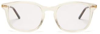 Gucci Square-frame Acetate Glasses - Mens - Clear