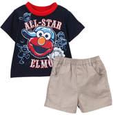 Children's Apparel Network Sesame Street Elmo Navy 'All-Star' Tee & Shorts - Infant