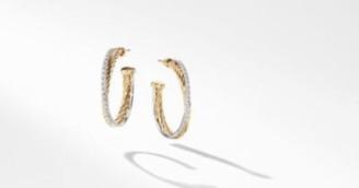 David Yurman The Crossover Collection Medium Hoop Earrings In 18K