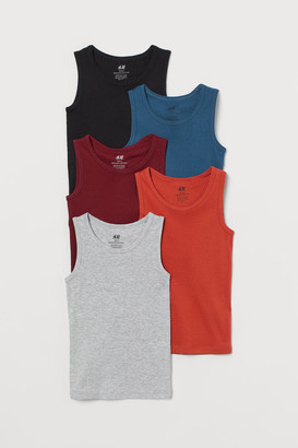 H&M 5-Pack Cotton Vest Tops