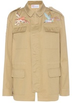 RED Valentino Embroidered Cotton-twill Jacket