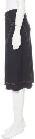 Donna Karan Knee-Length Godet Skirt