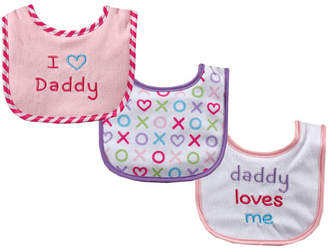 Luvable Friends Baby Bibs, 3-Pack, One Size