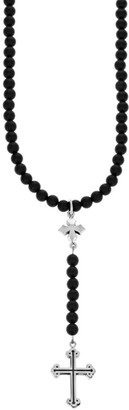 King Baby Studio New Classics Sterling Silver Beaded Cross Rosary