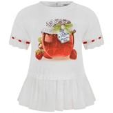 MonnaLisa MonnalisaBaby Girls White Jam Jar Print Top