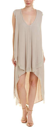 BCBGMAXAZRIA High-Low Midi Dress