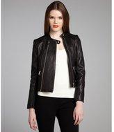 Sam Edelman black leather 'Deanna' double zip motorcycle jacket