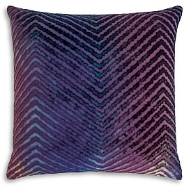 Kevin O'Brien Studio Chevron Velvet Decorative Pillow, 20 x 20