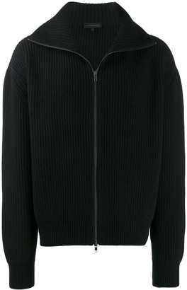 Ann Demeulemeester Zip-Up Ribbed Cardigan