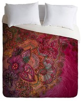 DENY Designs Stephanie Corfee Flourish Berry Lightweight Duvet Cover Collection