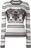 Ermanno Scervino lace insert knitted top - women - Cotton/Polyamide - 44