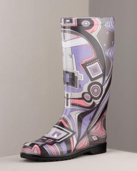 Emilio Pucci Cosmo Rain Boot