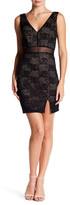City Triangles Lace Double V Slim Dress