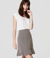 LOFT Tile Jacquard Flounce Skirt