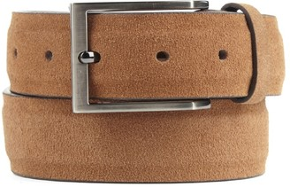 Tie Bar Solid Suede Tan Belt
