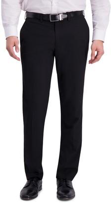 Louis Raphael Solid Flat Front Slim Fit Suit Separate Pants