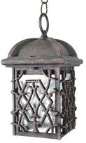 """Penfield 1-Light Outdoor Hanging Lantern Alcott Hill Finish: Architectural Bronze, Size: 12"""" H x 6.75"""" W"""