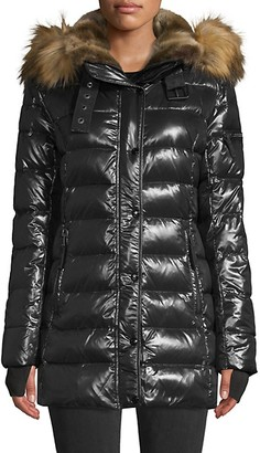 S13 Faux Fur-Trim Puffer Jacket