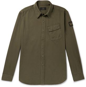 Belstaff Pitch Logo-Appliqued Garment-Dyed Cotton Oxford Shirt