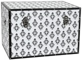 Oriental Furniture Damask Storage Trunk White