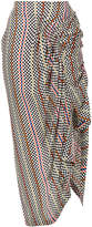 Preen by Thornton Bregazzi checkerboard print wrap skirt