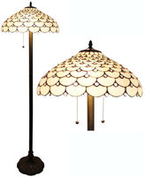 AMORA Amora Lighting AM012FL18 Tiffany Style Jeweled Floor Lamp 18-Inch