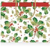 Caspari Gilded Holly Large Gift Bag
