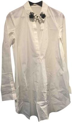 Schumacher White Cotton Top for Women