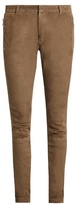 Balmain Mid-rise Slim-leg Leather Trousers