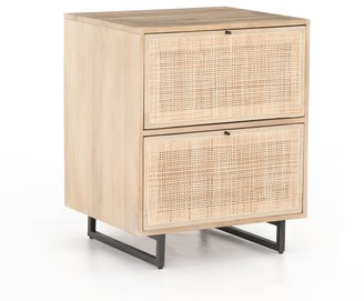 """Pottery Barn Dolores 23"""" Cane 2-Drawer File Cabinet"""