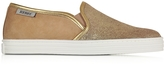 Hogan Rebel Nude Suede Slip-on Sneaker
