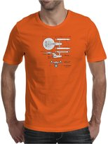 TopLAD U.S.S Enterprise Blueprints. Star Trek Mens T-Shirt /