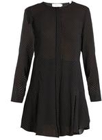 A.L.C. Randi polka-dot print long-sleeved silk dress
