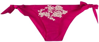 Carine Gilson Lace Side-Tie Bikini Bottoms