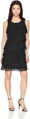 Jessica Howard JessicaHoward Women's Petite Sleeveless Asymmetrcal Tiered Dress