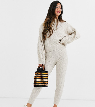ASOS DESIGN Petite co-ord cable jogger