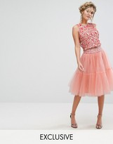 Lace and Beads Lace & Beads Tulle Layered Midi Skirt Co-ord