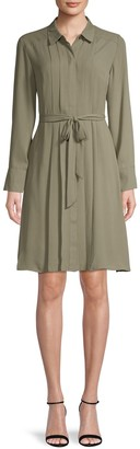 Nanette Nanette Lepore Pleated Front Belted Shirtdress
