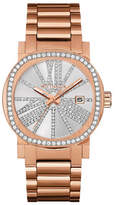Wittnauer Adele Analog Pave Rose Goldtone Watch