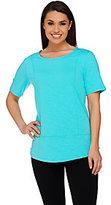 Denim & Co. Active Slub Knit Short Sleeve Top