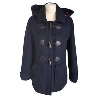 Barbour Navy Wool Coat for Women